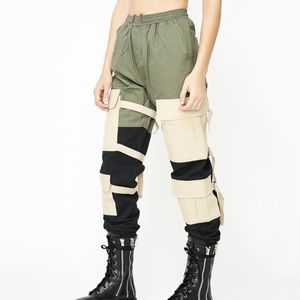 🆕 Dolls Kill colorblock cargo pants